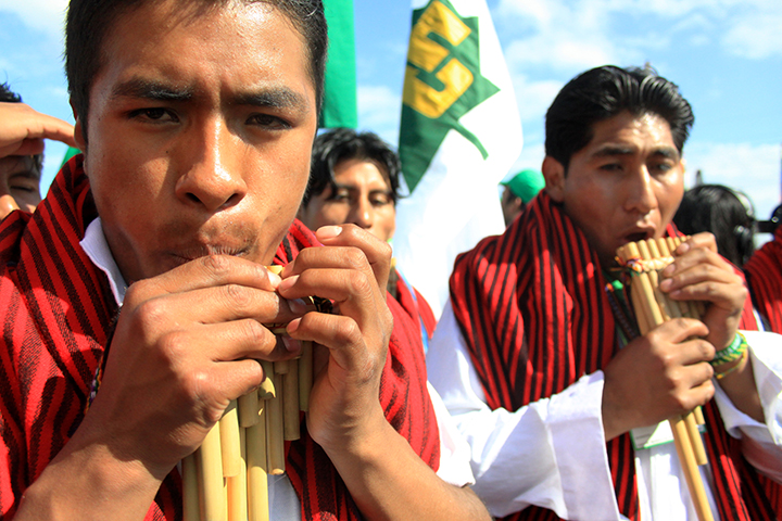 Photo: Luka Tomac [Croatia] Indigenous protestors at UNF climate negotiations in Cancun, Mexico (2010)