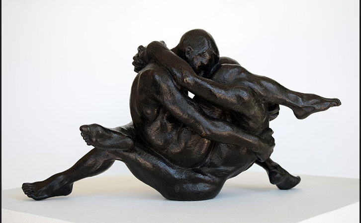 Freedom to Love (bronze sculpture) is in the current show by NYC artist Cassandra: SOULJA -Peace and Love Warriors