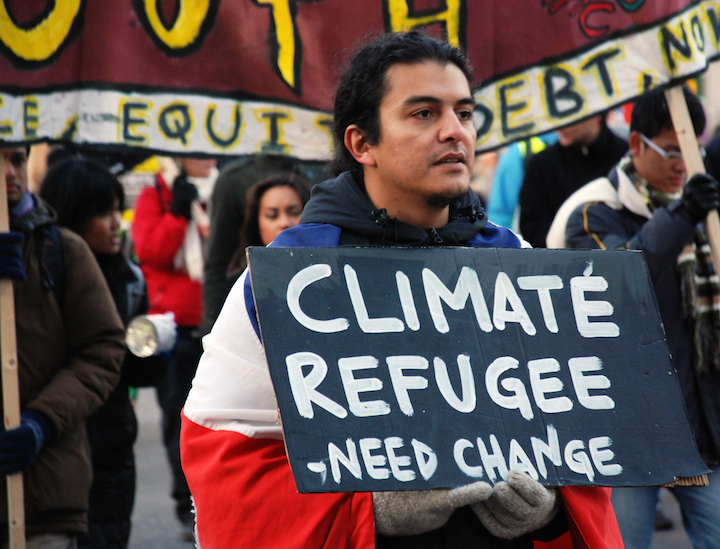 This photograph from a climate protest by Orin Langelle is on view in Allentown's ¡Buen Vivir! gallery.