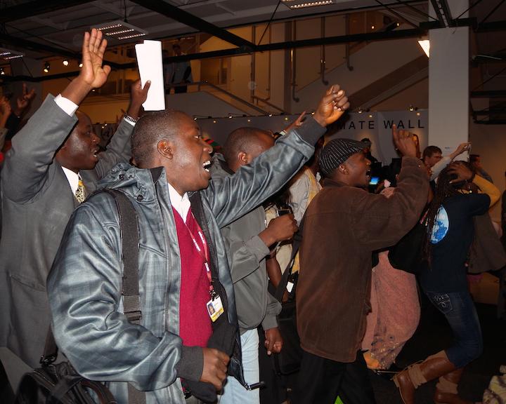 13*-5 African Delegation Protest, Copenhagen copy