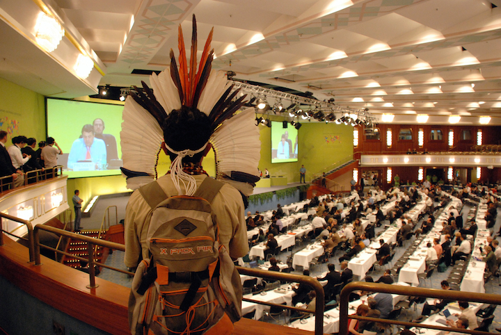 3*2 Indigenous Headress in UN Meeting Germany copy