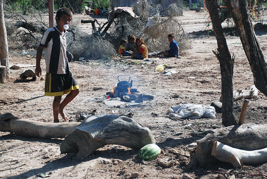 Th largest Ayoreo camp is Campo Lorro. PhotoLangelle