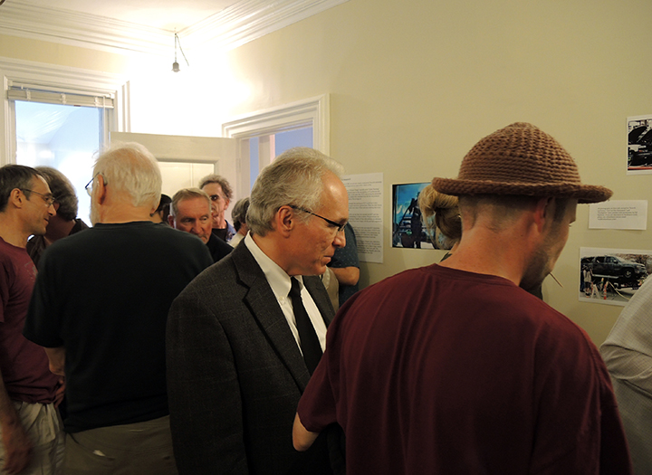 Another shot of Kuzma; this time looking at some of the items on display. Photo: Petermann/GJEP